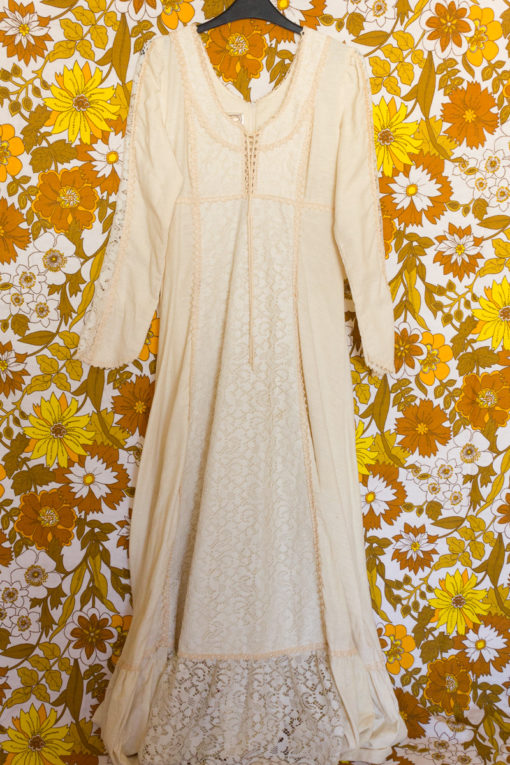 70s Lace Gunne Sax Dress
