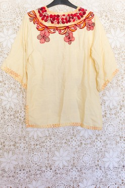 90s Embroidered Tunic Top