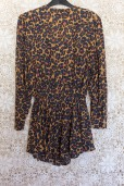 90s Leopard Print Peplum Dress