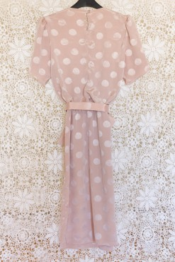 90s Polka Dot Midi Dress