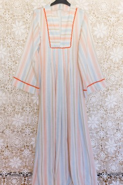 70s Striped Maxi Dress