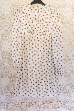 70s Geometric Polka Dot Dress