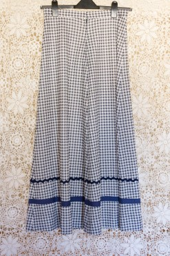 70s Houndstooth Maxi Skirt