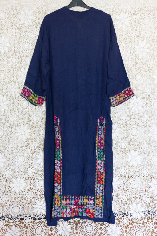90s Embroidered Maxi Dress
