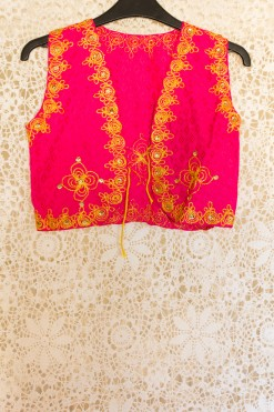 90s Embroidered Pink Waistcoat