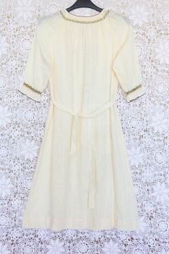 70s Embroidered Gypsy Dress