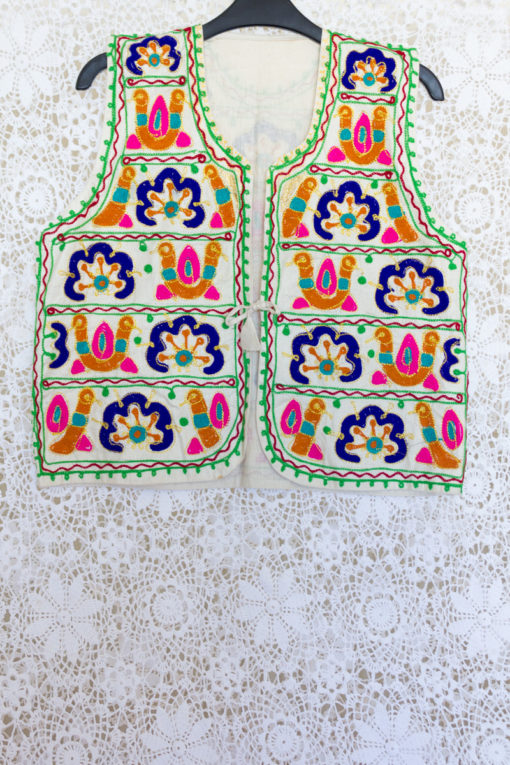 90s Indian Embroidered Waistcoat