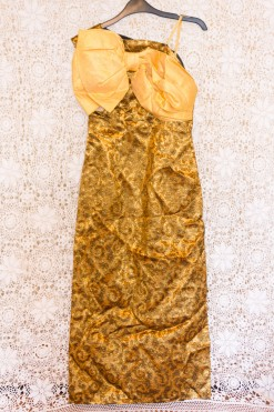 60s Bow Brocade Dress