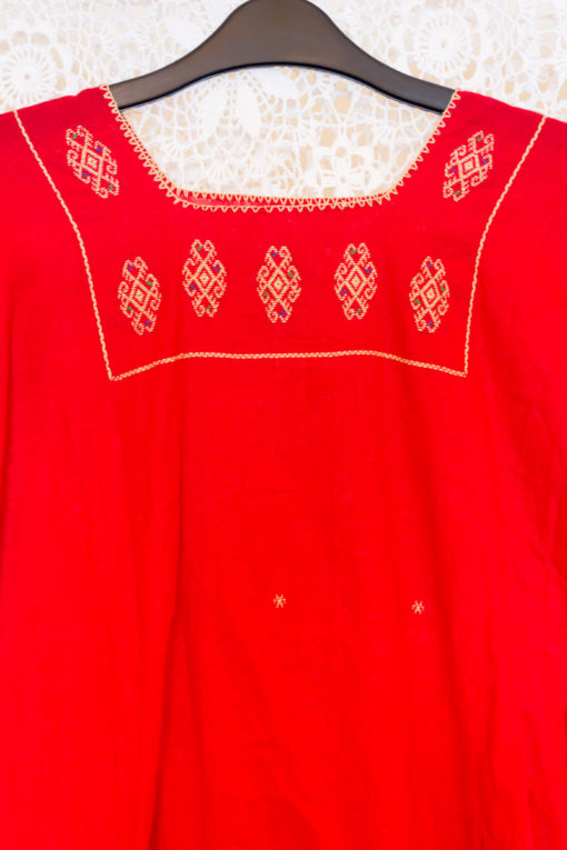70s  Guatemalan Embroidered Blouse