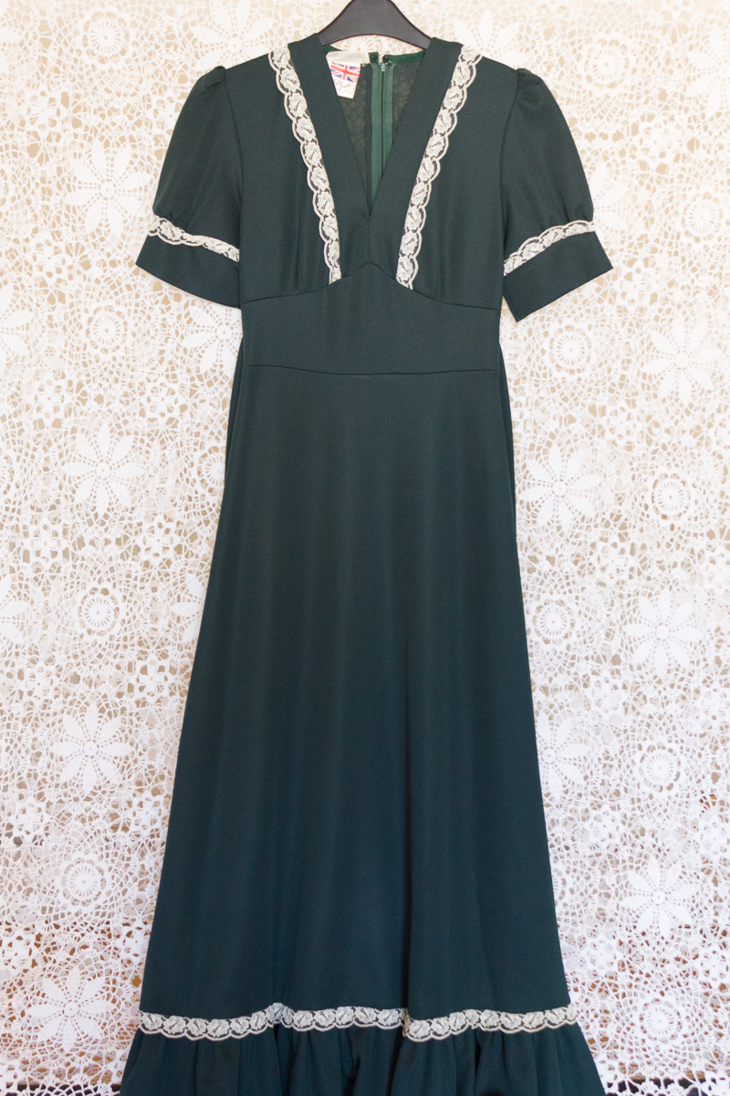 Lace Babydoll Maxi Dress The Vintage Wardrobe